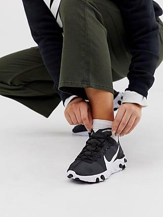 Nike React Element 55 - Sneakers nere e bianche-Nero