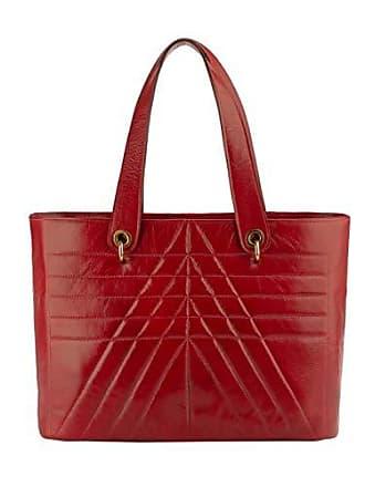 Andrea Vinci Bolsa Grande de couro legítimo Vânia vermelha