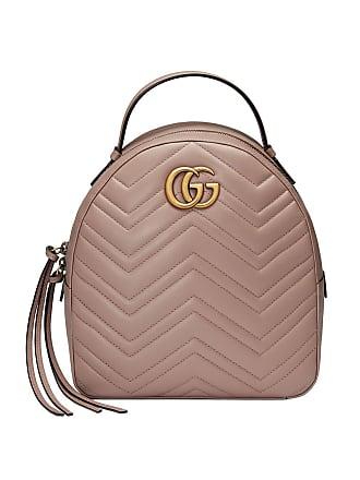 Gucci Sac à dos GG Marmont en cuir matelassé - Rose 787a938db1f
