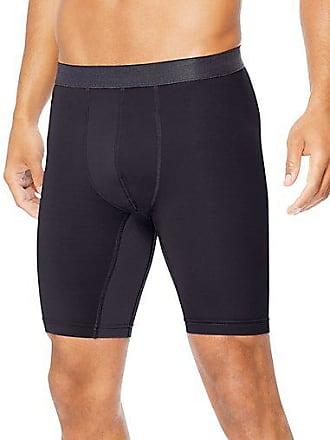 Hanes Sport3; Mens Performance Compression Shorts Charcoal Heather/Ebony 2XL