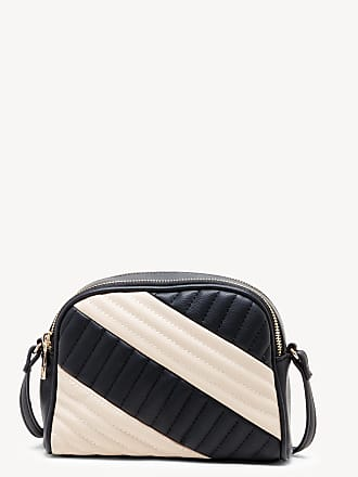 Sole Society Womens Linza Crossbody Bag Mixed Material Black Cream From Sole Society