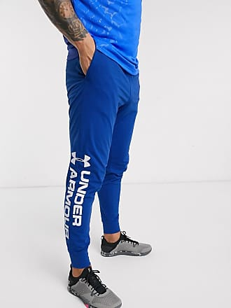Under Armour Training - Joggers in cotone blu con logo