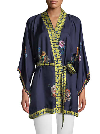 49d0885795c3c Johnny Was Petite Zuki Printed Silk Twill Kimono Jacket w  Sash Belt