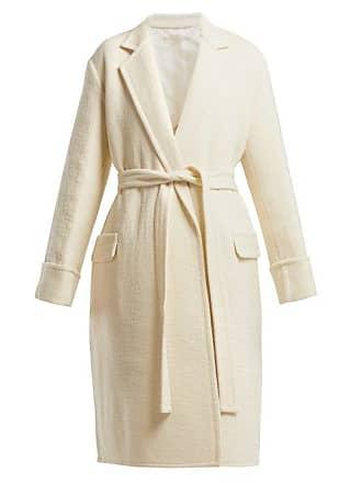 Helmut Lang Longline Virgin Wool Coat - Womens - Ivory