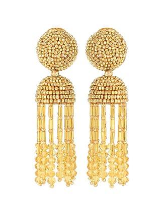 Oscar De La Renta Tassel clip-on earrings