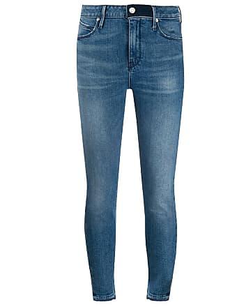 Rta Calça jeans skinny cropped - Azul