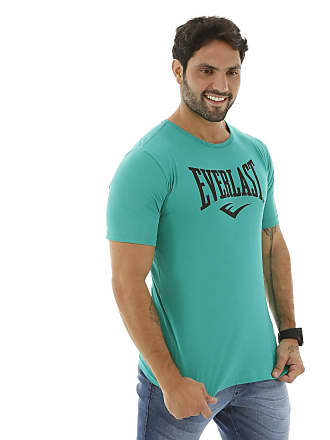 Everlast Camiseta Everlast Logomarca Masculina - Verde+preto - G