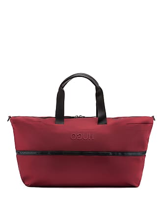 0b8d2966d13 HUGO BOSS Expandable holdall in nylon gabardine with reversed logo