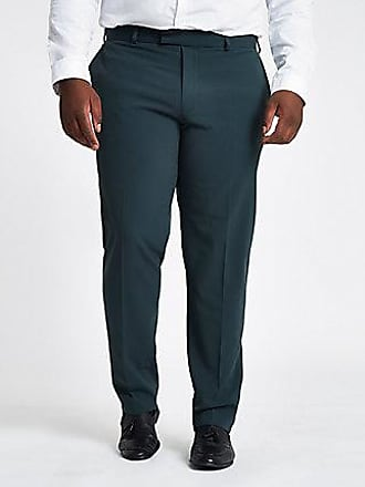 River Island Mens Big and Tall green skinny fit suit pants
