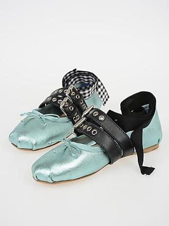 da6ddd19da0806 Miu Miu Lace Up Ballet Flats Größe 36