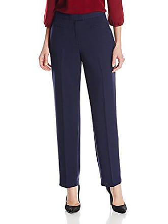 Ruby Rd. Womens Flat Front Easy Stretch Pant, Navy, 8