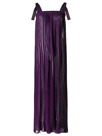 Adriana Degreas Vestido longo de seda - Roxo