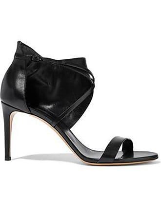 63ca15672cbf69 Casadei Casadei Woman Cutout Leather Sandals Black Size 38.5
