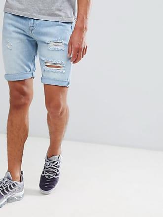 Your Turn Short en jean à abrasions - Bleu clair - Bleu c259d128dbd6