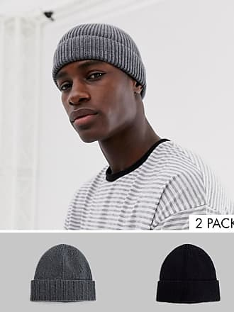03faaedef Asos 2 pack fisherman in grey and black in recycled polyester SAVE - Multi