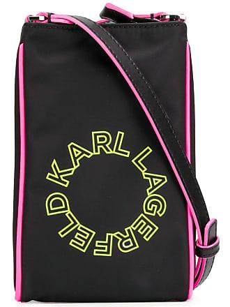 Karl Lagerfeld Bolsa transversal mini neon - Preto