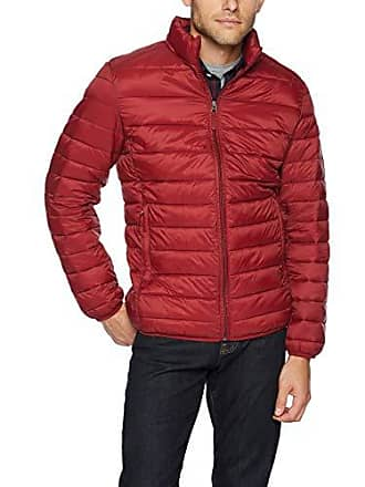 Amazon Essentials Mens Lightweight Water-Resistant Packable Puffer Jacket, Brick Red, X-Large