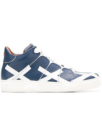 Ermenegildo Zegna logo print sneakers - Blue