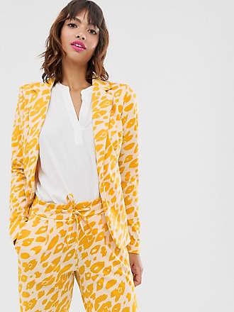 Ichi Anzugblazer mit Leoprint-Mehrfarbig