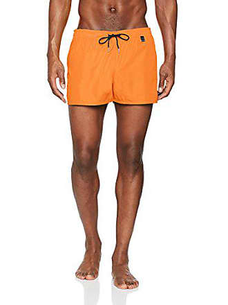 fc50a07c8f HOM Splash Beach Shorts Orange, Small (Taille Fabricant: S) Homme