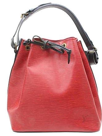 6fcbd6751d0e Louis Vuitton Bucket Bicolor Epi Black Petit Noe Drawstring Hobo 869538 Red  Leat