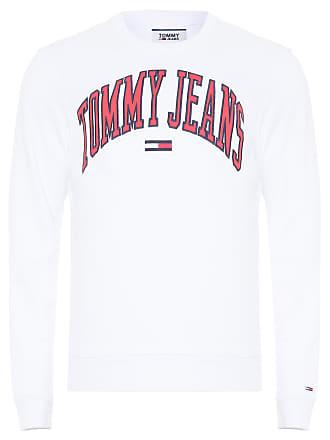 Tommy Jeans BLUSA MASCULINA CLEAN COLLEGIATE CREW - BRANCO