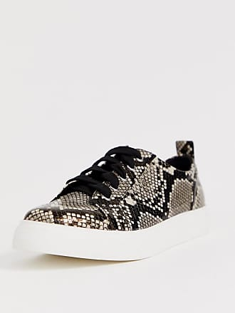 ce0d97213b4 Asos Durban pointed lace up sneakers in snake print - Multi