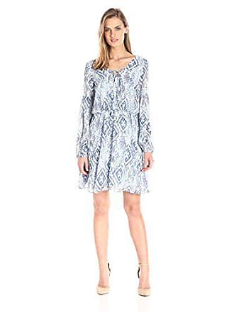 17f06c0039bba Betsey Johnson Womens Blue Chiffon New Boho Dress, Ivory, 12
