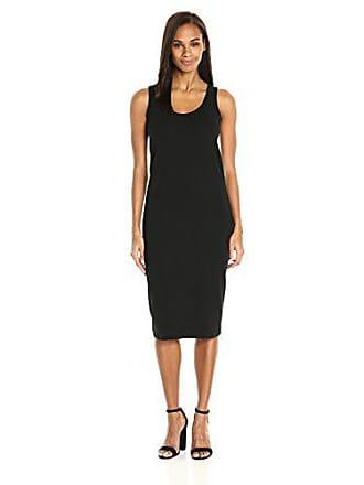 Joan Vass Womens Tank Stretch Pique Dress, Black L