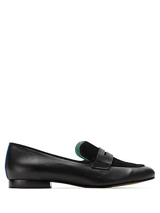 Blue Bird Shoes Loafer Boyish Heart de couro - Preto