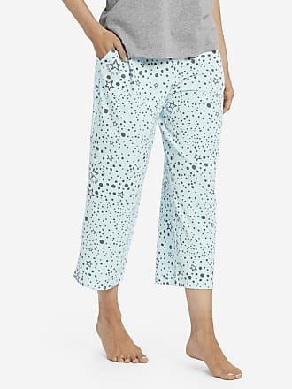Life is good Womens Sleep Stars Cropped Sleep Pants XXL Bermuda Blue