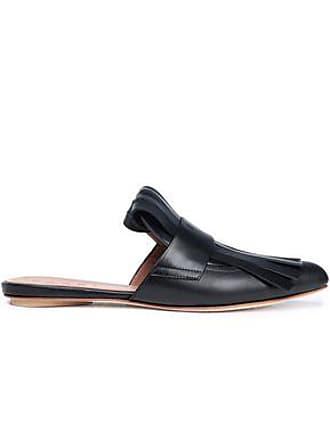 5adf86fcbfb Marni Marni Woman Fringed Leather Slippers Black Size 37