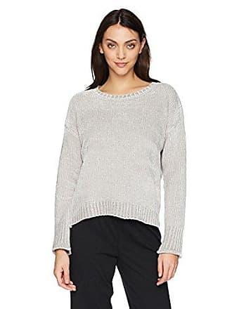 PJ Salvage Womens Chenille Cozy Sweater, Silver, XL