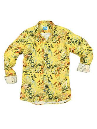 Panareha MAUI linen flowers shirt yellow (limited edition)