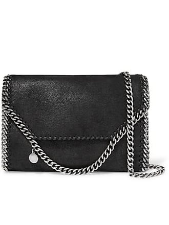 Stella McCartney The Falabella Faux Brushed-leather Shoulder Bag - Black 3f77a221a639a