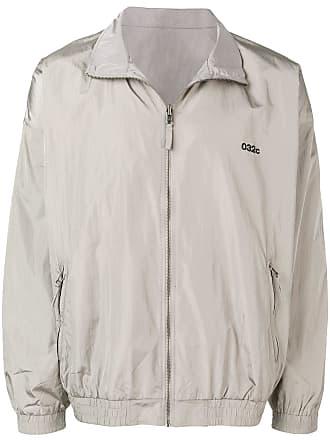 032c logo bomber jacket - Grey
