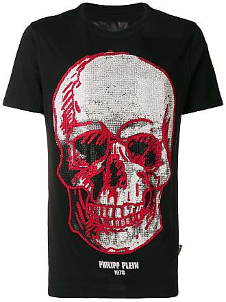 Philipp Plein Camiseta com aplicação de caveira - Preto