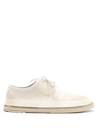 Marsèll Pomicino Leather And Suede Derby Shoes - Mens - White