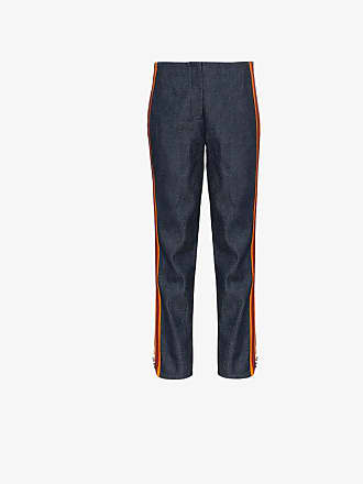 CALVIN KLEIN 205W39NYC high waist striped slim-fit jeans