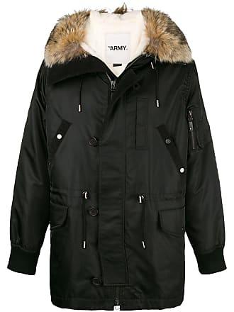 Yves Salomon - Army long hooded parka - Black