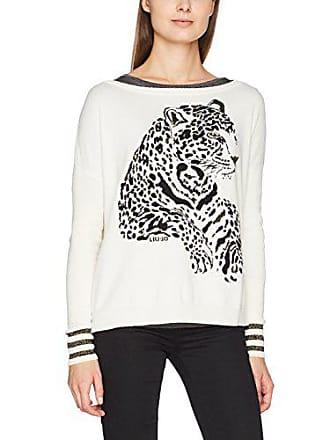 cc0cfa15b235 Liu Jo Liu Jo Donna Pullover Leopard Mehrfarbig (Bianco Lana Nero 01317)  Large