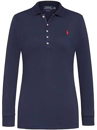c674113e763552 Polo Ralph Lauren Langarm-Polo Slim Fit (Blau) - Damen