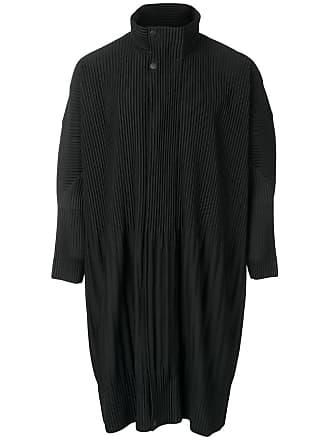 Homme Plissé Issey Miyake pleated zip-up coat - Black