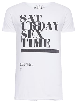 PURPLE YELLOW CAMISETA MASCULINA SATURDAY - BRANCO