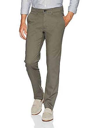 Haggar Mens Coastal Comfort Slim Fit Superflex Waist Flat Front Pant, Medium Grey, 32Wx30L