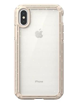 SPECK Presidio V-Grip Gold Glitter/Brown iPhone XS/X Case