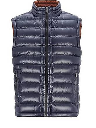 e6ffde781c3 BOSS Regular-fit gilet in glossy water-repellent fabric