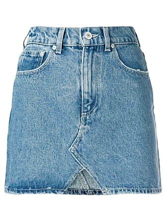 Chiara Ferragni Short jeans com bolsos - Azul