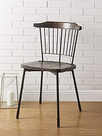 ACME ACME Furniture 71795 Orien Side Chair (Set of 2) Black and Brown Oak