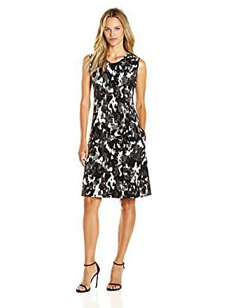 41c5604cc1077c Norma Kamali Womens Sleeveless Swing Dress Bonded Camo Print